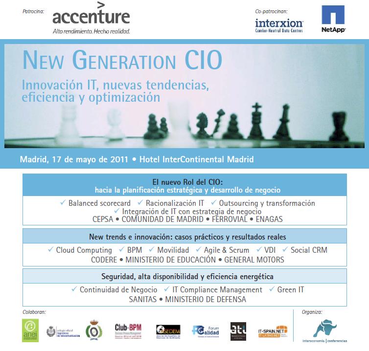 New Generation CIO. Innovación IT, nuevas tendencias, eficiencia y optimización